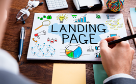 Landing form, as the main element of the landing page