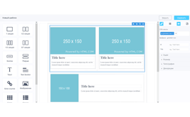 Block page template builder for printing and PDF documents